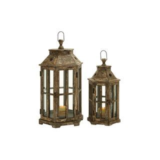 Shop for Wood and Glass Lanterns (Set of 2). Get free shipping at Overstock.com - Your Online Home Decor Outlet Store! Get 5% in rewards with Club O!