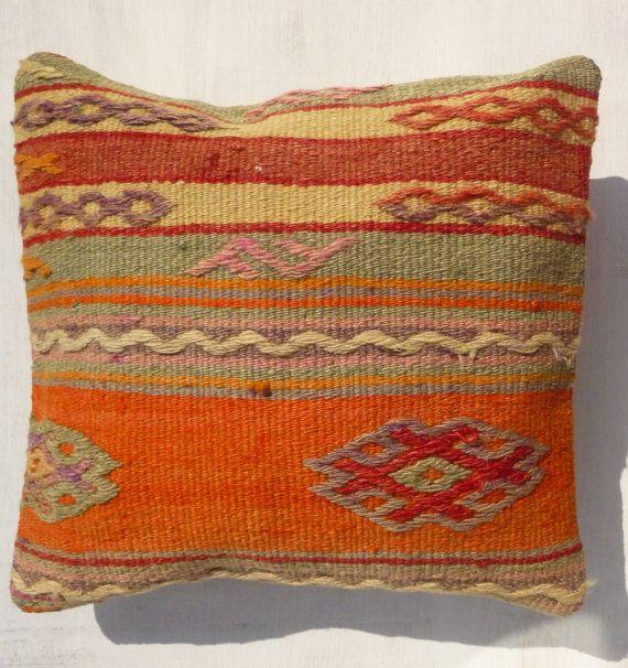 Kilim pillow cover Ethnic design Throw Pillow by PillowTalkOnEtsy, $40.00
