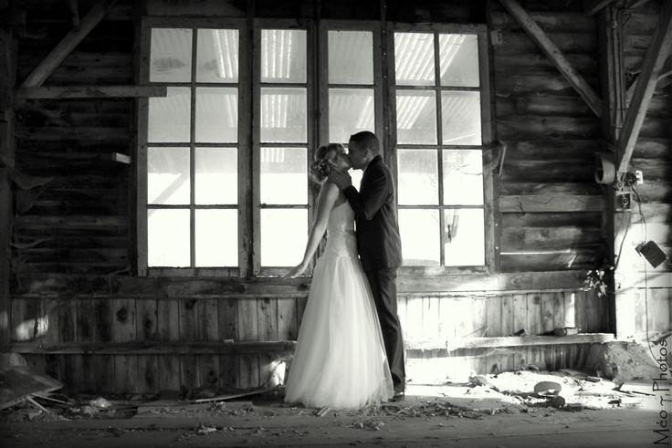 love kiss, mariage n&b,