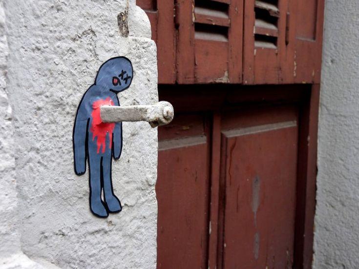 The EndStreet Artists, Funny Street, French Artists, Oak Oak, Urban Art, Artists Oakoak, Art Urbano, Street Graffiti, Streetart