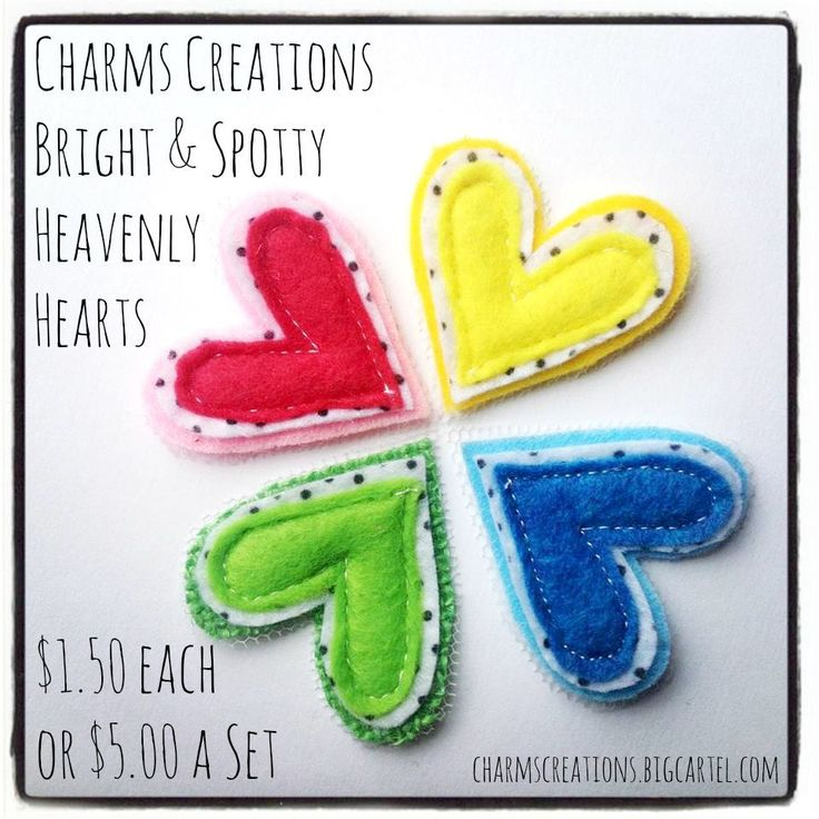 Bright & Spotty Heavenly Hearts / Charms Creations