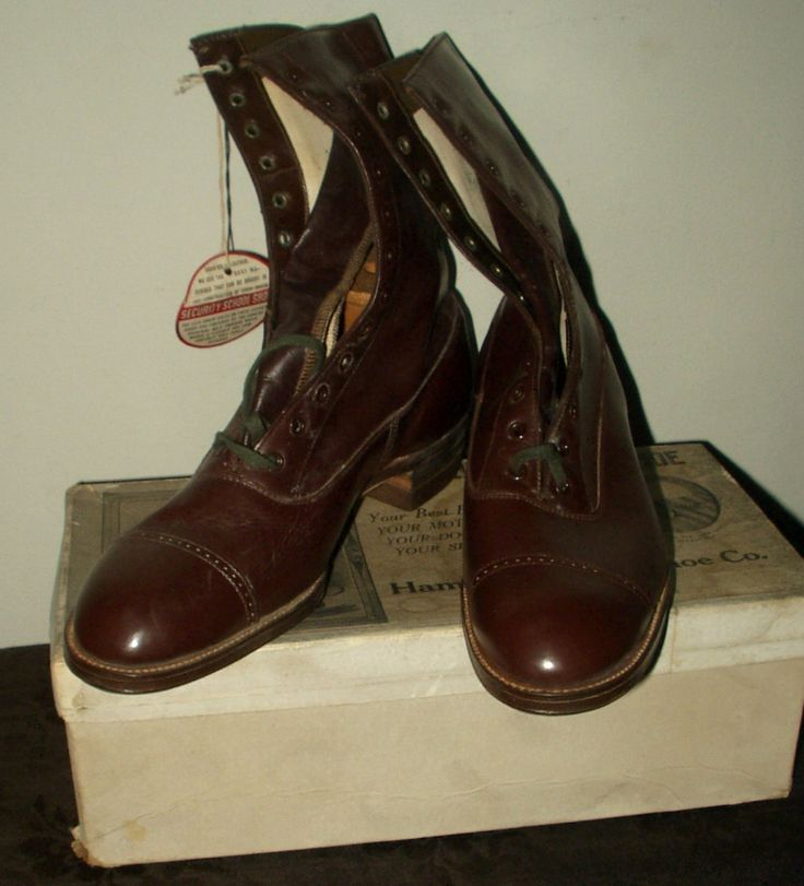 The Gatherings Antique Vintage - Old Store Stock 1900's Hamilton Brown Boy Youth Shoes In Box, $125.00 (http://store.the-gatherings-antique-vintage.net/old-store-stock-1900s-hamilton-brown-boy-youth-shoes-in-box/)