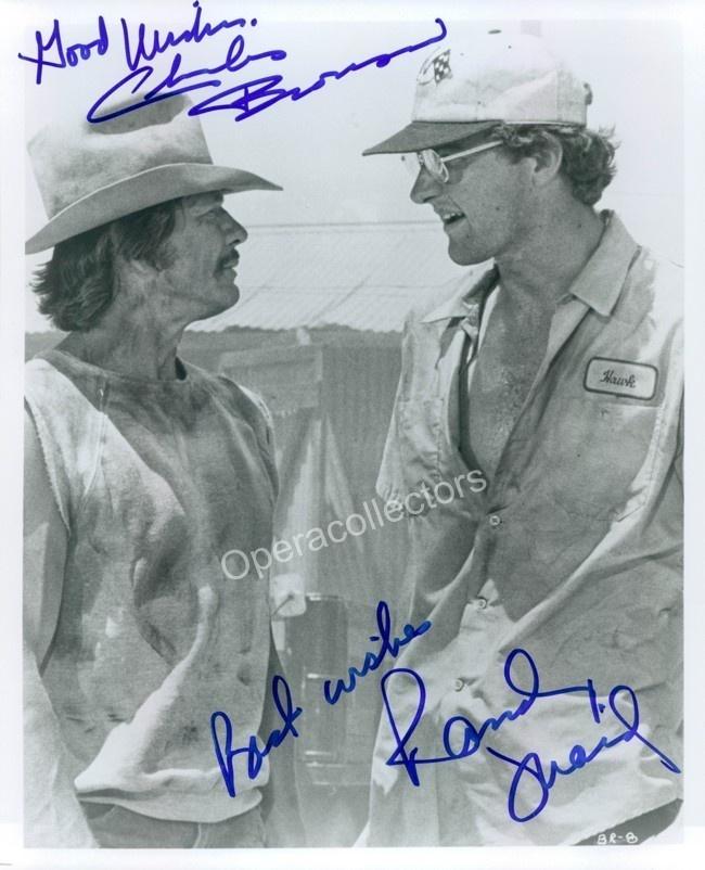 Charles Bronson and Randy Quaid Double Signed Photo | eBay