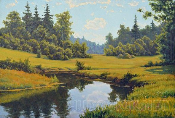 Летняя пора Свободная копия с картины Б. Щербакова