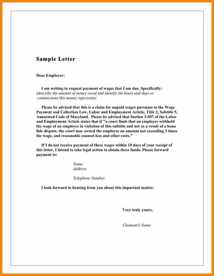 40 Demand Letter For Money Owed Letter Templates Free Business