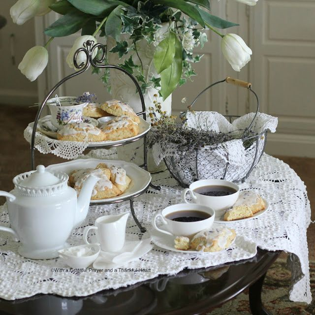 Sweet Lavender Scones in the Parlor | Tea Time | Pinterest