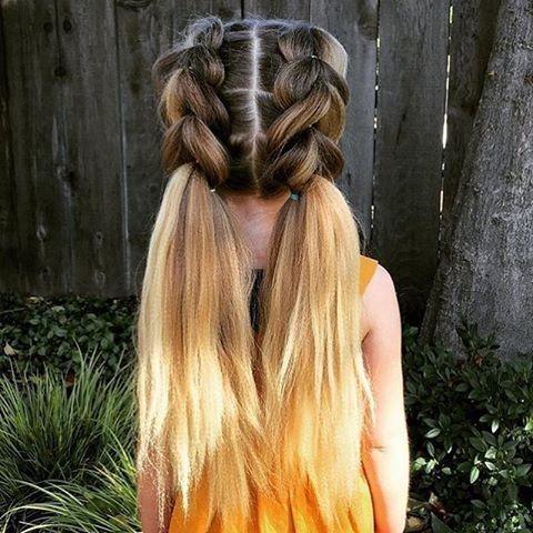 nos plus belles idées de coiffures pour petites filles – #belles #coiffures #DE…