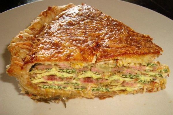 Слоеный пирог с мясом рецепт приготовления
