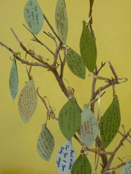Wish tree, wishes for baby.  Another wish tree idea!