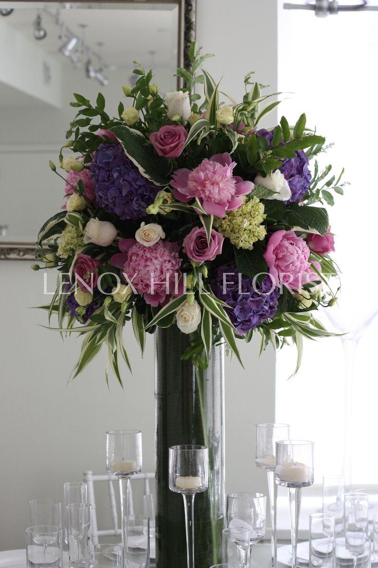 De bedste idéer inden for tall flower arrangements på