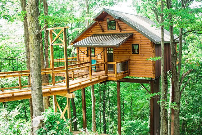 Some of the most unique lodging in Berlin, Ohio, our giant tree houses are ideal for a romantic getaway or family vacation. Book online today!