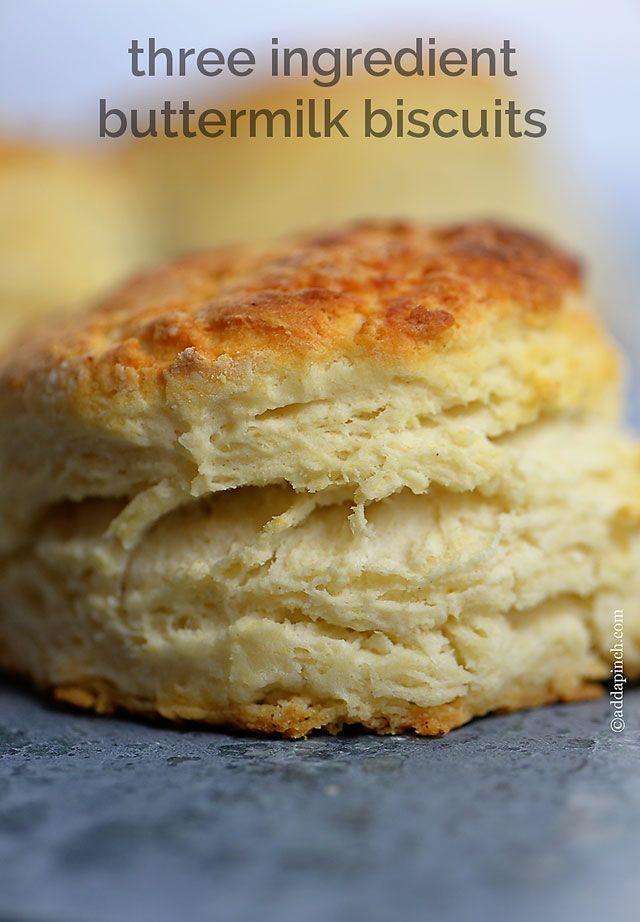 Three Ingredient Buttermilk Biscuit @addapinch | Robyn Stone | Robyn Stone