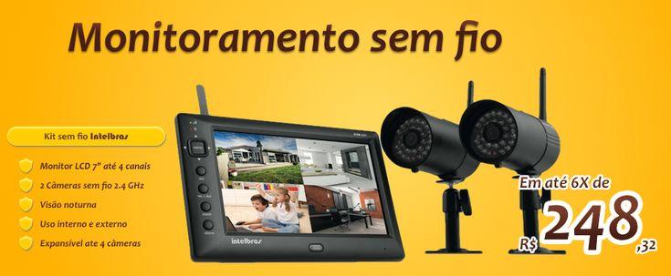 Fácil de instalar e simples de configurar, o kit monitoramento EHM 606 é ideal para construções já finalizadas. Acesse agora: www.lampala.com.br.