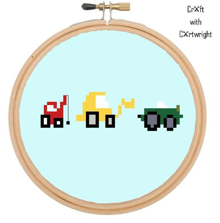 Looking for your next project? You're going to love Diggers, dumpers cross stitch pattern by designer craftcartwright.