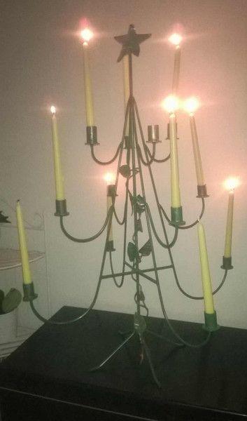 NATALE, candelabro da tavolo a 12 candele, a forma di Artistic Wrought iron su DaWanda.com