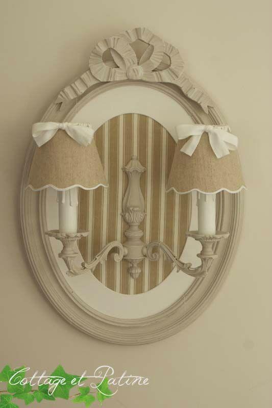 Cottage et Patine création luminaire personnalisée ref noeud_toilematelas