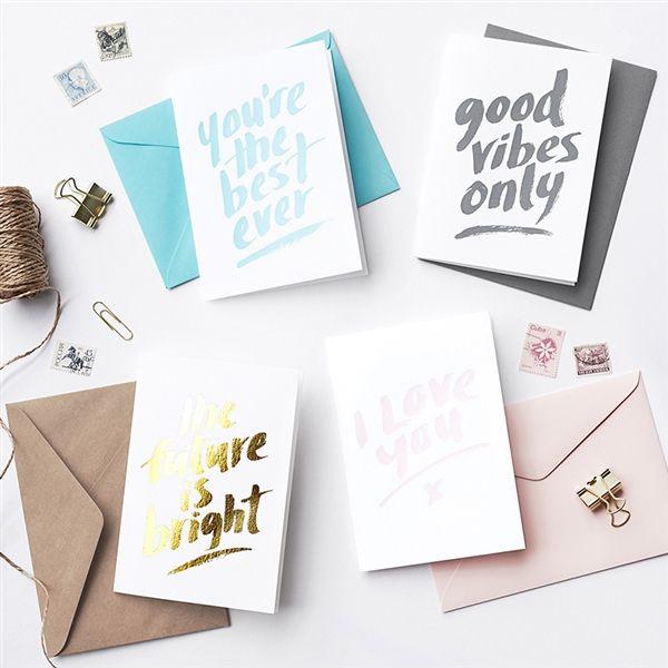 Letterpress & Foiled Greeting Cards - GALINA DIXON - Product Showroom 2017