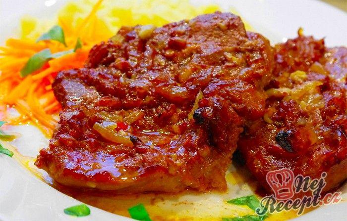Fenomenální!!! Marináda z pikantního kečupu, sójové omáčky, medu, ...