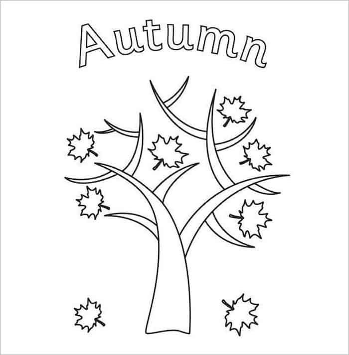 Fall Coloring Pages In 2020 Fall Coloring Pages Tree Coloring