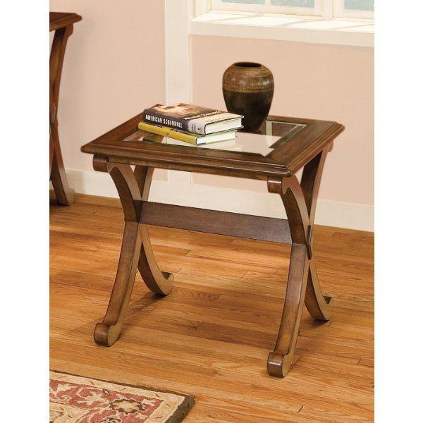 Standard Furniture Granada End Table In Cherry   22842