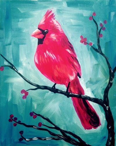 Crimson Cardinal - Lindsey Sniffin - Paint Nite