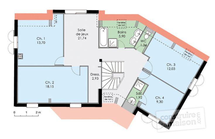 37 best Maison images on Pinterest Floor plans, Dream home plans