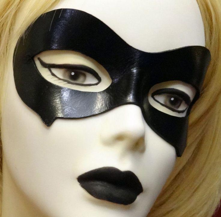 Harley Quinn Classic II Costume Leather Eye Mask MOST Authentic FREE Bonus!