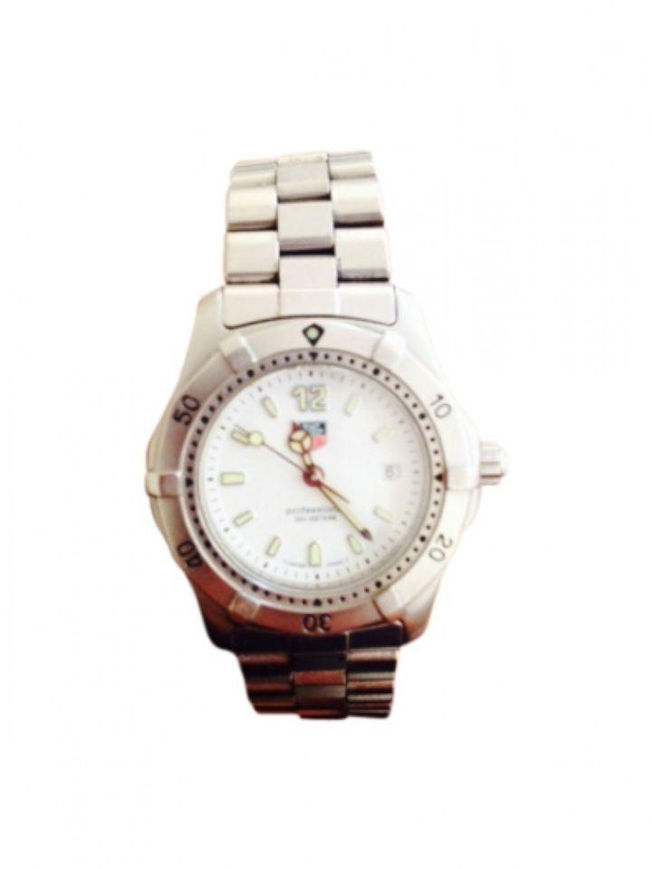 Relógio TAG HEUER em aço e cristal de safira  Excelente estado de conservação, com muito pouco uso  Manual de instruções, garantia internacional, coroa de rosca, fecho duplo bloqueio
