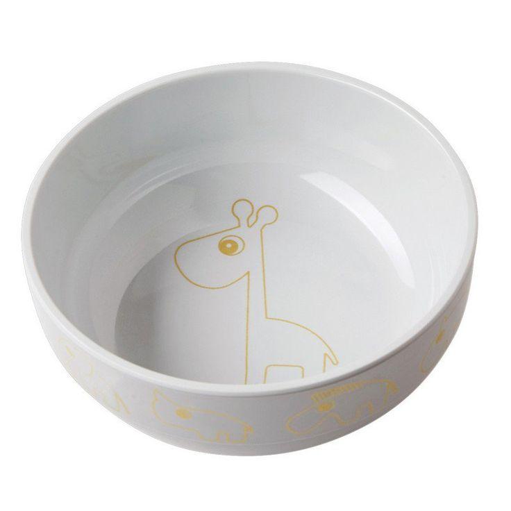 Melamin Kinder Schale im edlen Design in Gold/Grau aus dem Hause Done by Deer