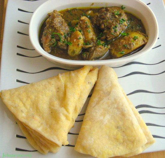 Guyanese Curry Chicken and Dhal Puri