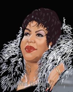 Aretha Franklin (by John Fisher)