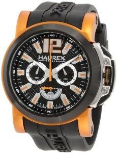 Haurex Italy Men's 3D370UNO San Marco Orange Aluminum Black Rubber Chrono Watch