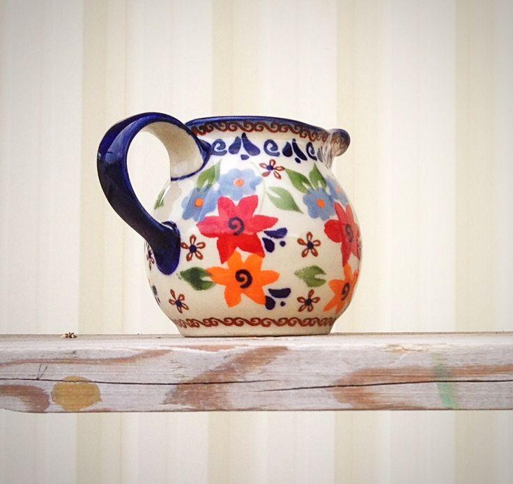 Сливочник / creamer.  Pottery Boleslawiec #посударучнойработы #керамикаручнойработы #посуда #ceramics #pottery #polishpottery ceramic tableware | pottery | polish pottery | boleslawiec | посуда | керамическая посуда | польская керамика | польская посуда | болеславская керамика | керамика
