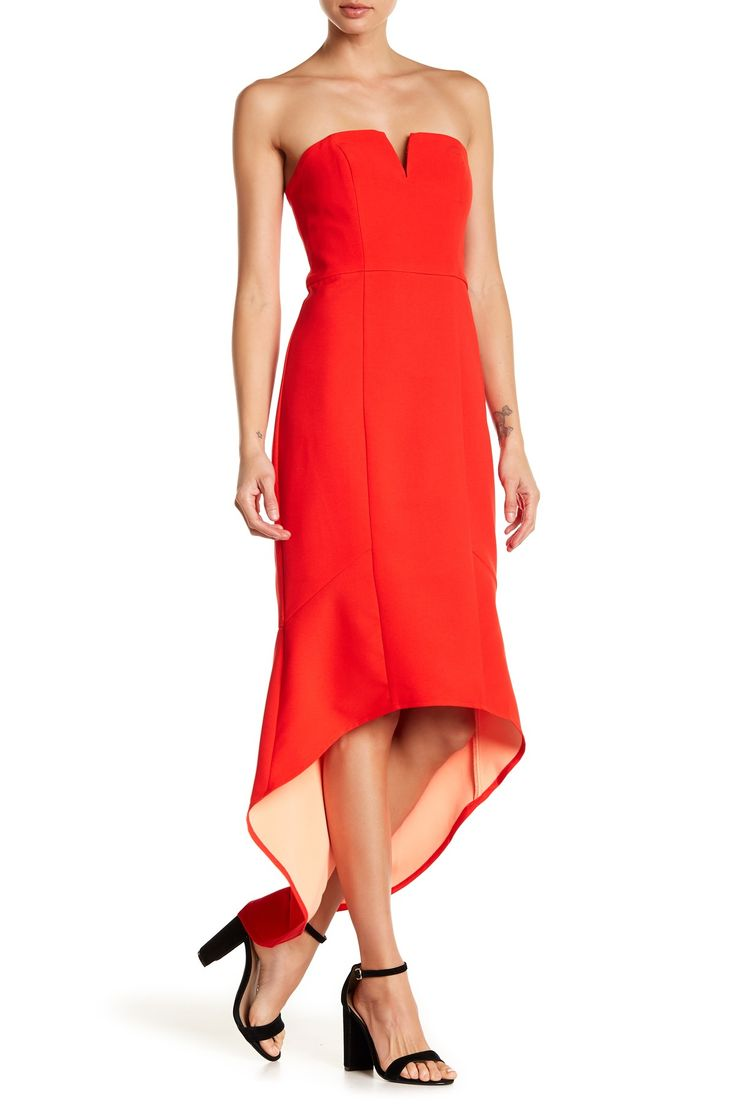 Believe Me Strapless Midi Dress by Lumier on @nordstrom_rack