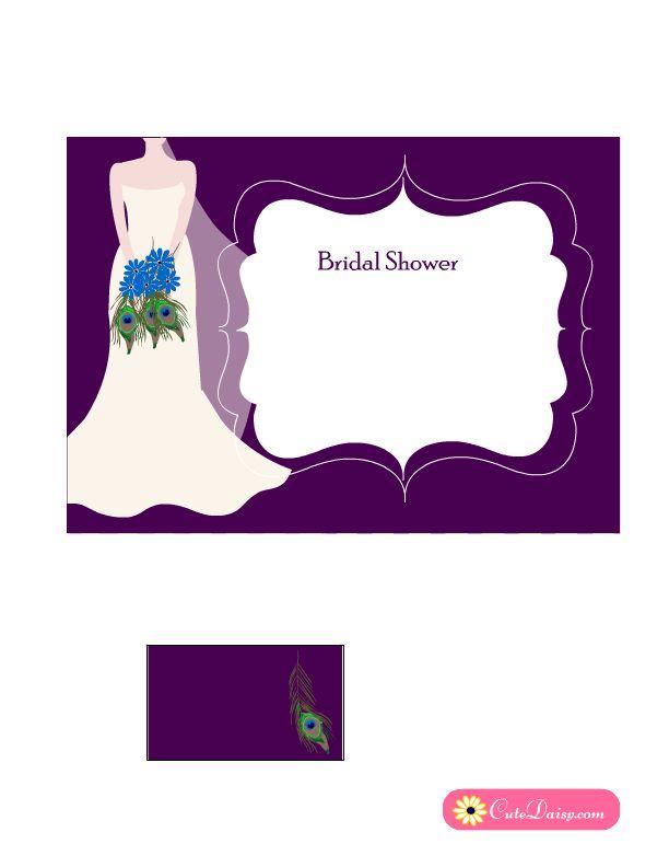101 best Free Printable Bridal Shower Invitations { Templates - free printable wedding shower invitations templates