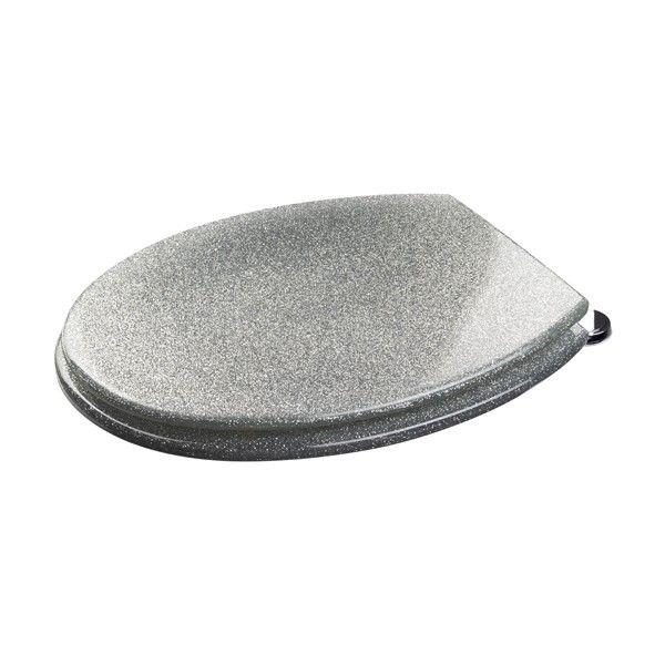 Croydex Silver Glitter Toilet Seat - Novelty Toilet Seats - Toilet Seats - Toilets - Bathroom Suites