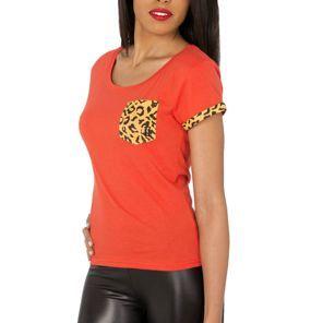 Nouvelle collection printemps-été 2014  Tee shirt Unkut Femme - Cat Tee Fire/Leo