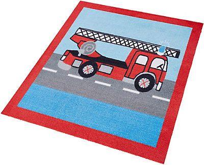 Kinder-Teppich, Zala Living, »Feuerwehr«, getuftet in rot blau im Online Shop von Baur Versand