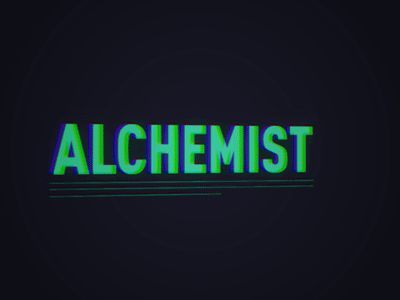 Dribbble - Be an Alchemist title exploration by Bushra Mahmood
