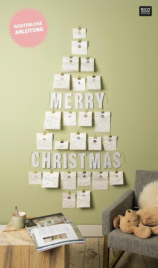 Last Minute Adventskalender basteln aus Papiertüten