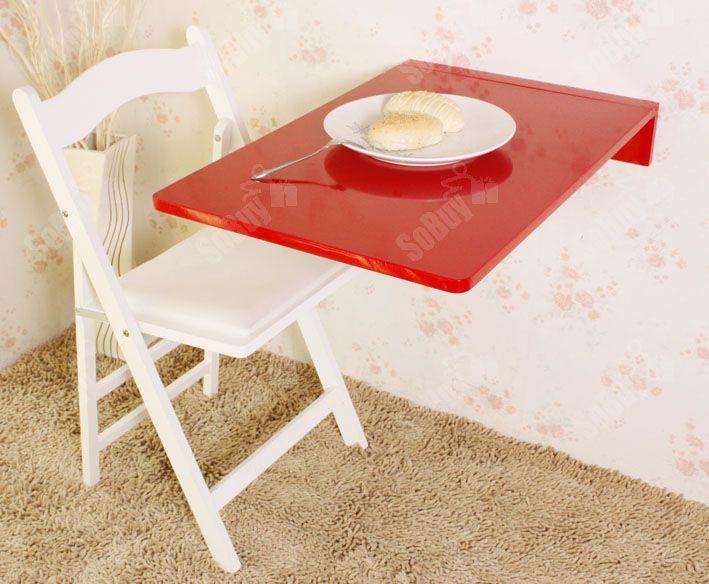 Sobuy table murale rabattable en bois table pr cuisine - Table cuisine rabattable ...
