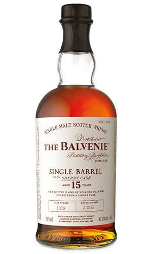 The Balvenie 15 Single Barrel Sherry Cask. Image courtesy William Grant & Sons.: Whisky, Single Malt, 15 Single, 15 Years