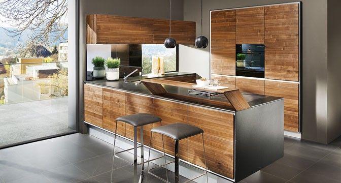 Edles Naturholz spielt die Hauptrolle bei der designpreis-gekrönten vao Küche von TEAM 7.