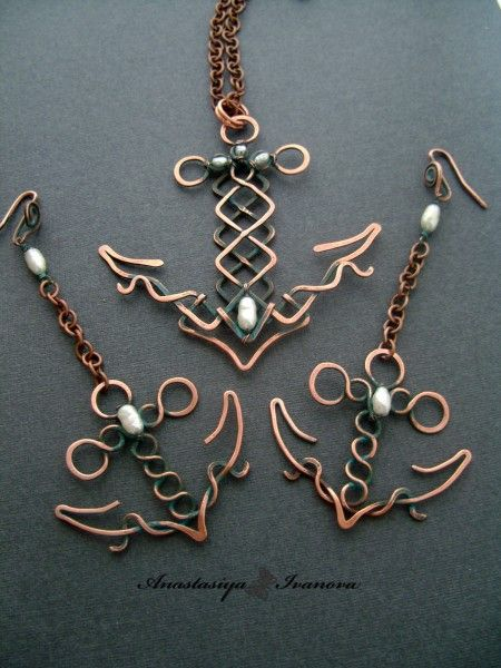 Wire Anchors...little more manly jewelry