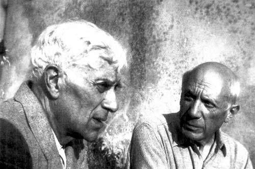 Georges braque et Picasso. « Il faut toujours avoir deux idées,  l'une pour détruire l'autre. »  Georges Braque.