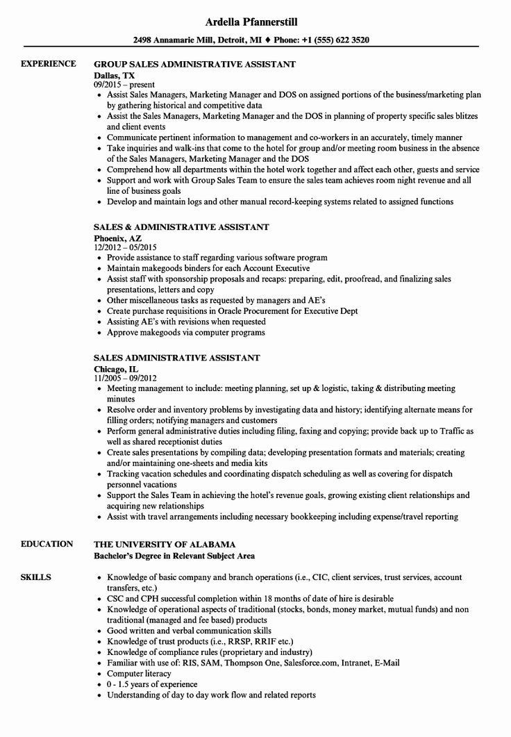 25 Executive assistant Resume Bullet Points in 2020
