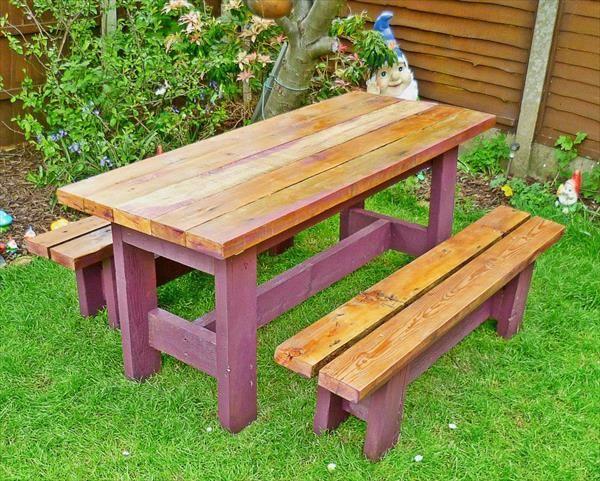 pallet picnic table for garden