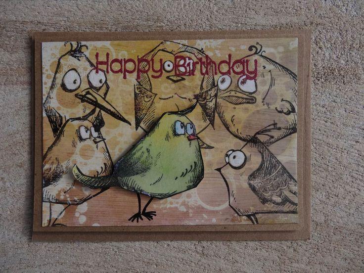 Glückwunschkarte A6: Crazy Bird