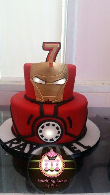 Iron man cake                                                                                                                                                                                 More