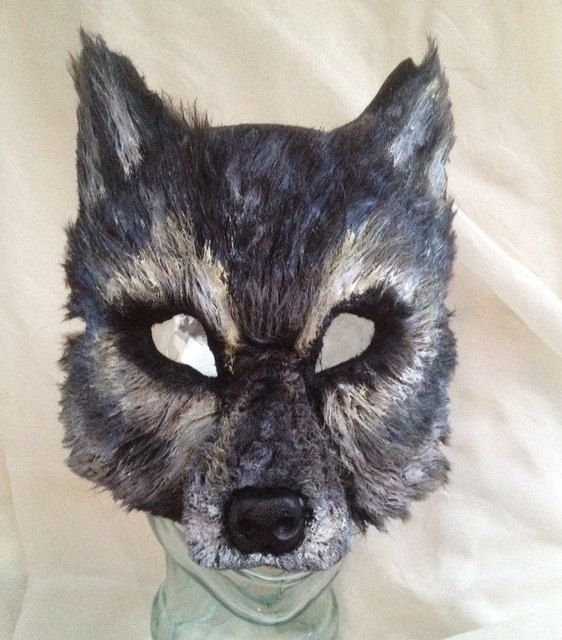 Big Bad Gray Wolf Mask by FemaleArtCollective on Etsy, $54.00